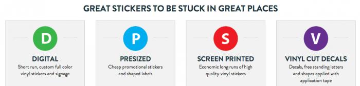 Ordering custom stickers